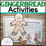 Gingerbread Activities No Prep Math and Literacy Pack