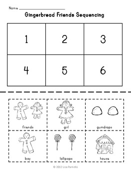 Gingerbread Activities Set with Emergent Readers and Sequencing