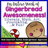 Gingerbread Man Activities for an Entire Week! Math . Literacy . Art . Journals