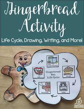 Gingerbread Activity Craft: Life Cycle, Writing Prompts, Art, Labeling, EDITABLE
