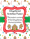Gingerbread Activity Packet with 10 Activities