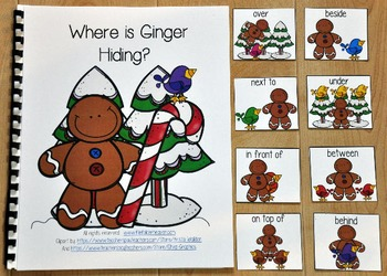 "Gingerbread Adapted Book--""Where is Ginger Hiding?"""