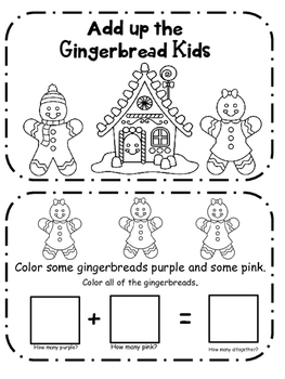 Gingerbread Addition Book