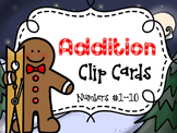 Gingerbread Addition Clip Cards