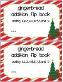 Gingerbread Addition Flip Book