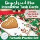 Gingerbread Addition Interactive Task Cards Center