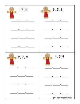 Gingerbread Addition and Subtraction Fact Families 6-18