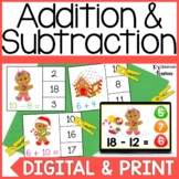Digital and Printable Gingerbread Addition and Subtraction