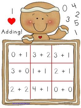 Gingerbread Addition to 5 Bingo