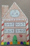 Gingerbread Addition/Subtraction Fact Family Houses