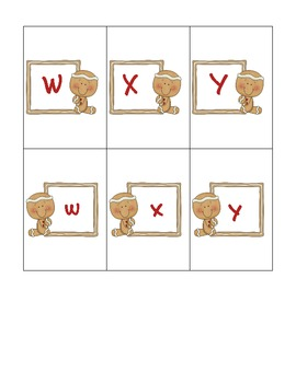 Gingerbread Alphabet Card Games