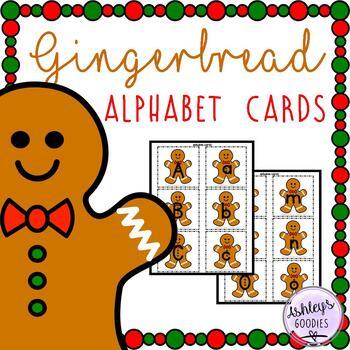 Gingerbread Alphabet Cards