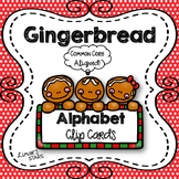 Gingerbread Alphabet Clip Cards {NO DITTOS}