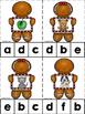 Gingerbread Alphabet Clip Cards {NO DITTOS}