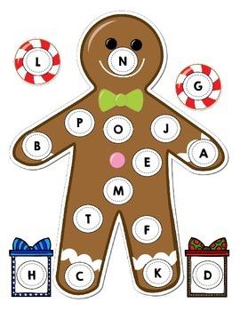 Gingerbread Themed Alphabet Match