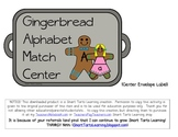 Gingerbread Alphabet Match Center {color version}