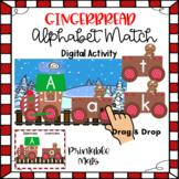 Gingerbread Alphabet Match Digital Activity and Printable Mats