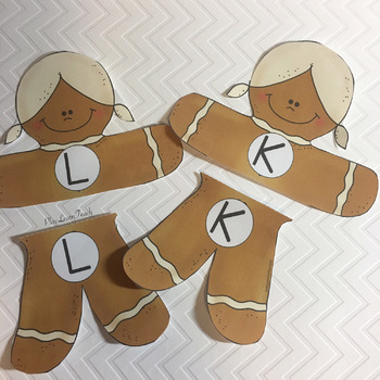 Gingerbread Alphabet Uppercase and Lowercase Match