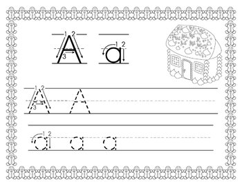 Gingerbread Alphabet/Handwriting Book