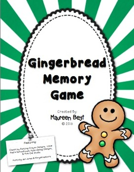 Gingerbread Area & Perimeter Memory Game