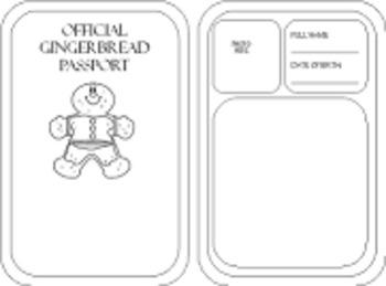 Gingerbread Around the World Passport