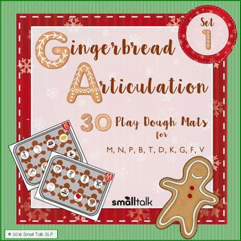 Gingerbread Articulation  Early Sounds Play Dough Mats
