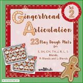 Gingerbread Articulation Late Sounds Play Dough Mats