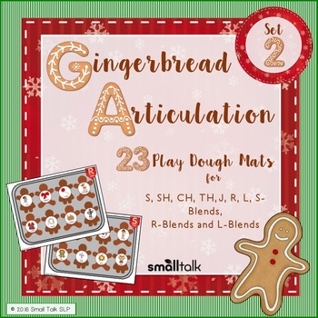 Gingerbread Articulation Late Sounds Play Dough Mats