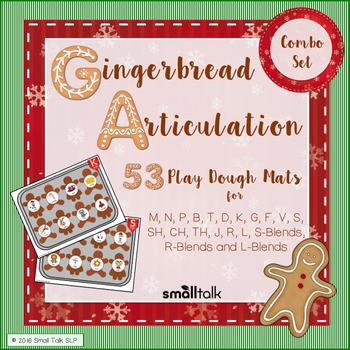 Gingerbread Articulation Play Dough Mats Combo Set