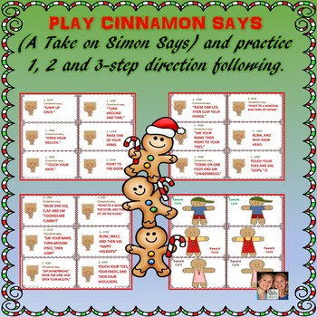 Gingerbread Auditory Comprehension: 1, 2 & 3-Step Direction Following & FREEBIE!