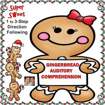Gingerbread Auditory Comprehension: 1, 2 & 3-Step Directio