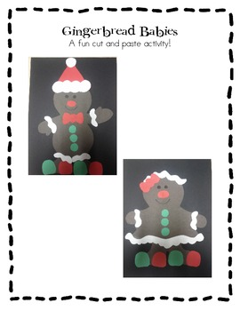 Gingerbread Babies!  A fun cut and paste activity!