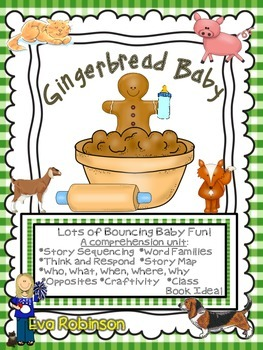 Gingerbread Baby- A Cute Bundle of Comprehension FUN!