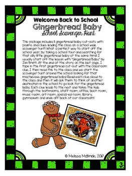 Gingerbread Baby Back to School Hunt