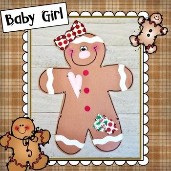 Gingerbread Baby Craft: Christmas Craft, December crafts