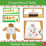 Gingerbread Baby Literacy and Math Center Activities