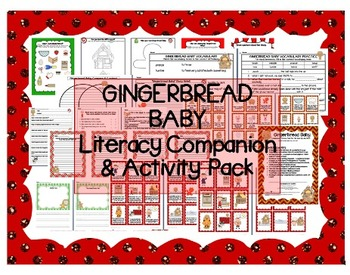 """""""Gingerbread Baby"""" Literacy Companion / Activity Pack - sequencing, vocab, comp"""