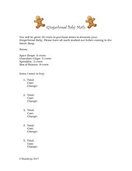 Gingerbread Baby Math
