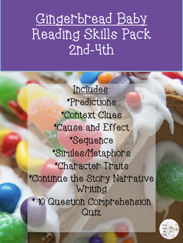 Gingerbread Baby Reading Skills Pack (2nd-4th)