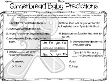 Gingerbread Baby Differentiated Reading Skills & Strategies