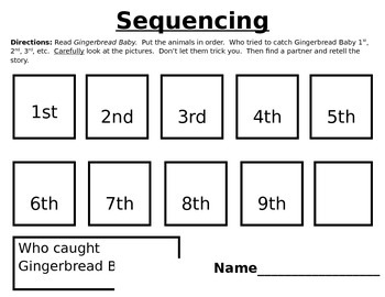 Gingerbread Baby Sequencing Worksheet