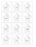 Gingerbread Baby Sight Word Cards