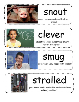 Gingerbread Baby Vocabulary Cards
