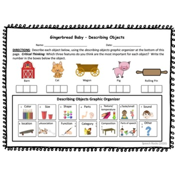 Gingerbread Baby Vocabulary Companion & Activity Sheets
