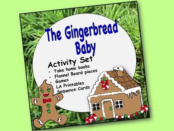 Gingerbread Baby Activity Set: Preposition book, sequence activities, games