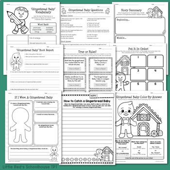 Gingerbread Baby Worksheet Packet