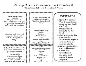 Gingerbread Baby/Gingerbread Friends Compare and Contrast