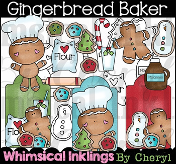 Gingerbread Baker Clipart Collection