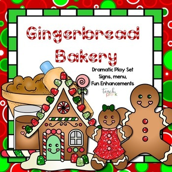 Gingerbread Bakery Dramatic Play set