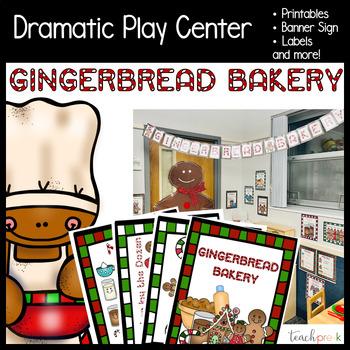 Gingerbread Bakery Dramatic Play set